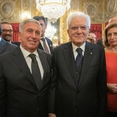 Gennaro Sicolo con Sergio Mattarella