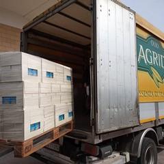 Il carico di olio donato da Agrid