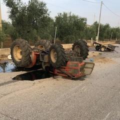 L'incidente stradale avvenuto sulla strada provinciale 218