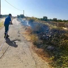 Le guardie Ambientali domani lincendio di via Balice