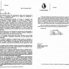 La lettera di Decaro al presidente della Regione Emiliano