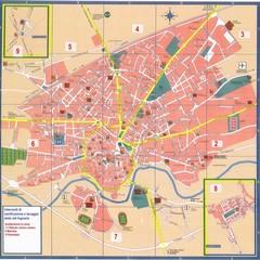 Mappa delle zone di intervento