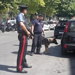 posto diblocco dei carabinieri durante i controlli