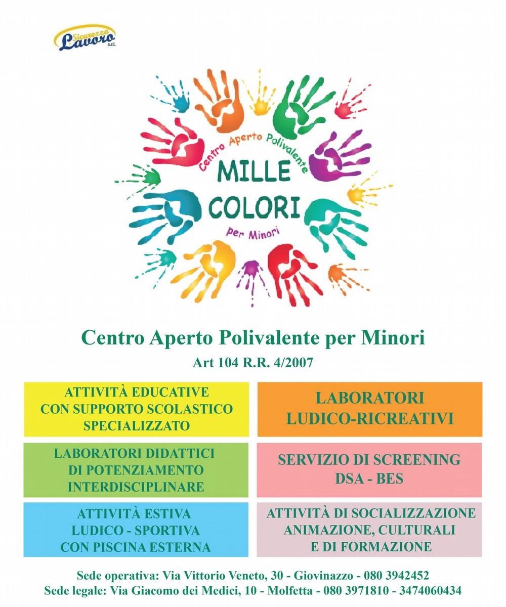 """Centro Aperto Polivalente per Minori """"MILLE COLORI"""""""