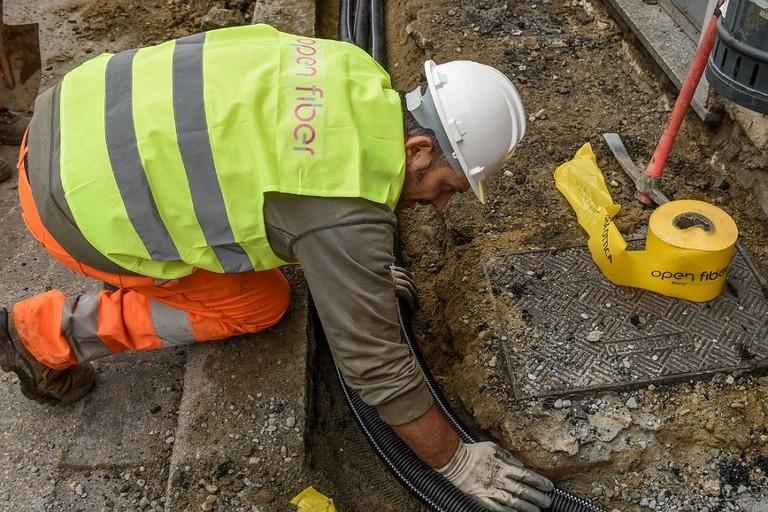 I cantieri della fibra Open Fiber