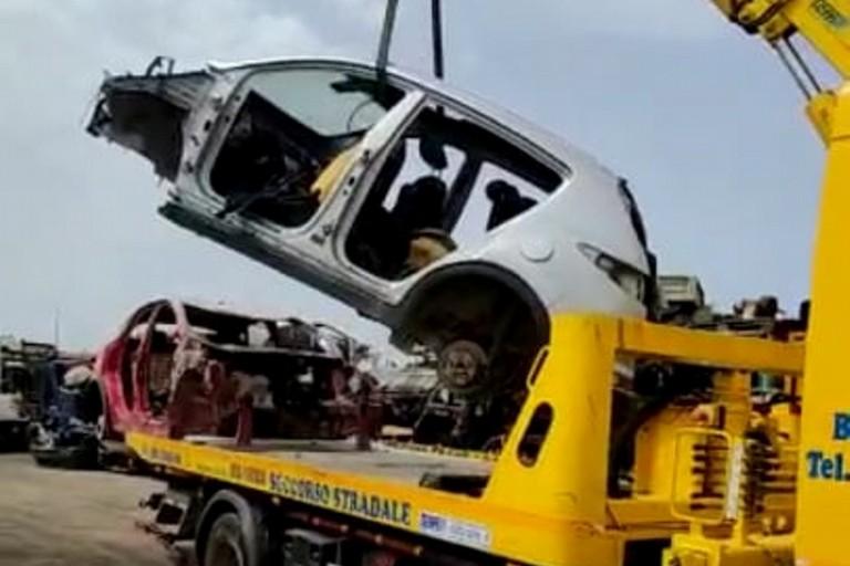 Le auto recuperate dalla Polizia Locale