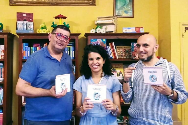 Carmen Battista con Danilo Sicolo e Peppino Piacente