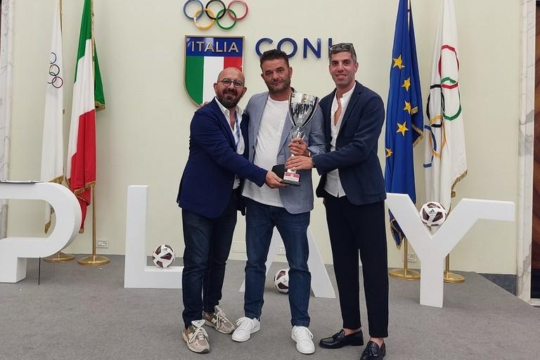 Bitonto C5 Femminile premiato per le vittorie di campionato e Coppa Italia di A2