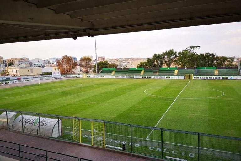 Lo stadio Città degli ulivi di Bitonto