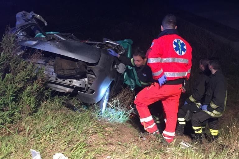 L'incidente stradale avvenuto sulla strada provinciale 231