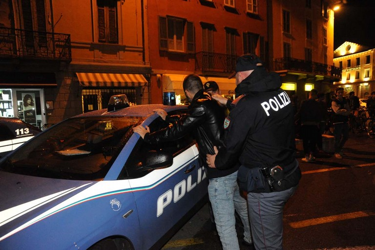 L'intervento della Polizia di Stato