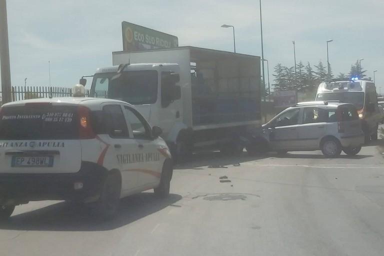 L'incidente stradale avvenuto sulla strada provinciale 108