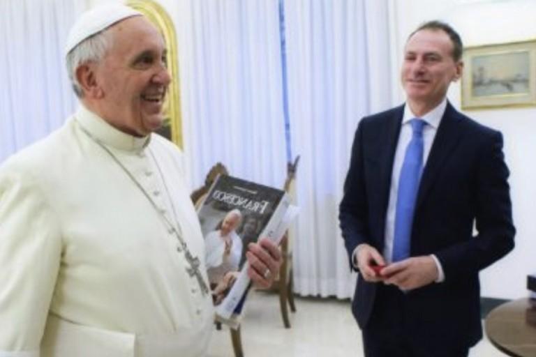 Roberto Alborghetti con Papa Francesco