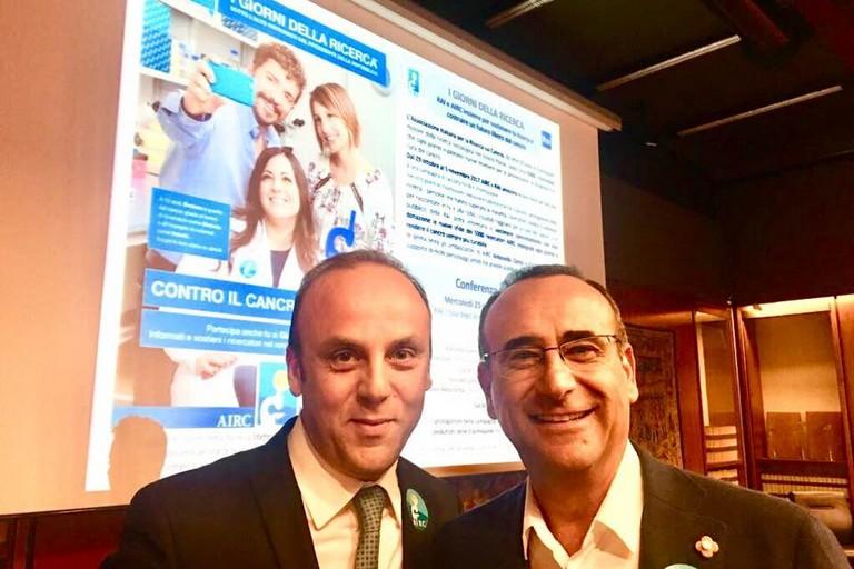Antonio Moschetta con Carlo Conti