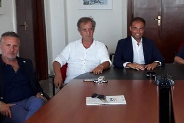 Antonio Saracino durante una riunione dei Gal pugliesi