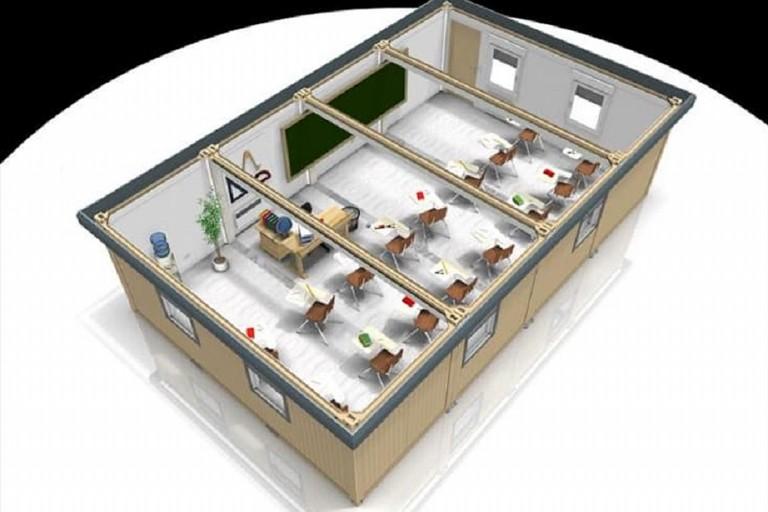 Aule prefabbricate modulari