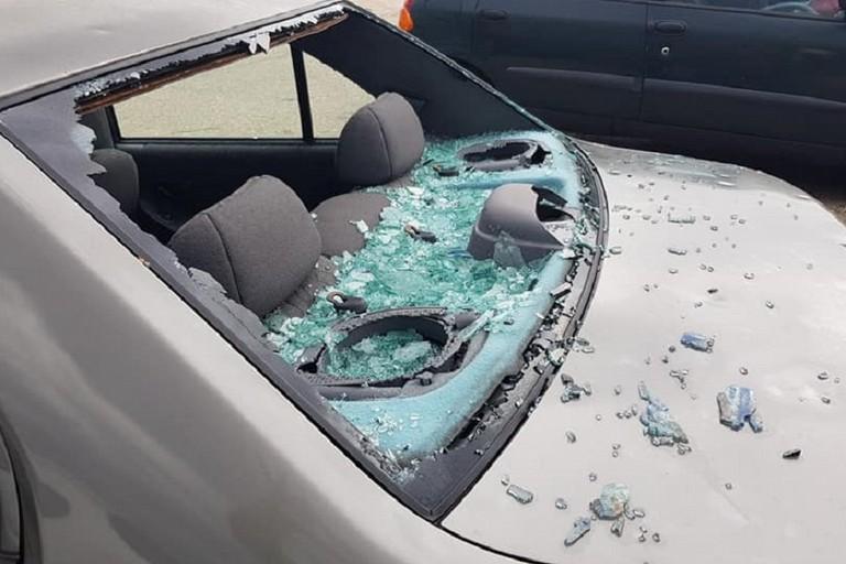 Auto distrutte dalla grandine a Bitonto