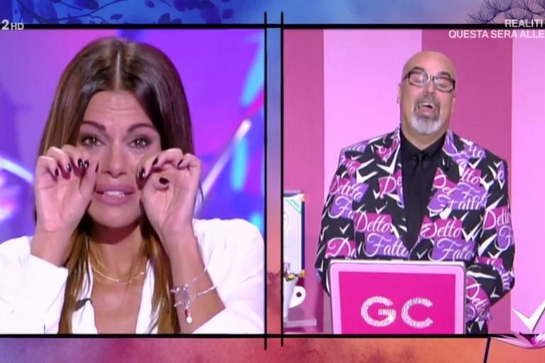 Bianca Guaccero in lacrime dopo la dedica da Bitonto