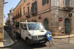 Iniziano i lavori in Via Caprera, traversa di Via Traetta