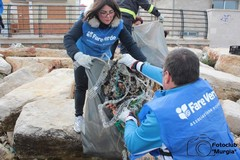 Domenica i volontari di Fare Verde Bitonto sulla spiaggia di Palese per ripulire il litorale