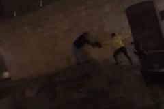 Cane in pericolo sul cornicione del fossato: due ragazzi lo salvano rischiando di cadere
