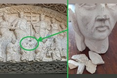 Ritrovata la testa di Baldassarre sul portale della Cattedrale di Bitonto
