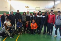 Il presidente del Comitato Italiano Paralimpico Pinto agli allenamenti della Elos