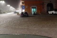 Maltempo su Bitonto: allagata piazza Roma a Mariotto