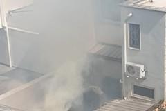 Incendio in via Luigi Ambruosi a Bitonto