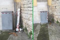 Amianto abbandonato in centro a Bitonto. Abbaticchio: «Rimosso in 3 giorni»