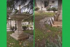Perdite nelle fontane di piazza Marconi: entro lunedì il ripristino
