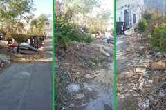 Una discarica davanti allo stadio di Bitonto. Il Pd: «Puliremo, ma serve l'aiuto di tutti»
