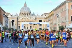Società running bitontine a Roma con gli amministratori per la Maratona della Pace