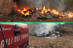 Pneumatici in fiamme sua via Traiana: Bitonto stretta tra i fuochi