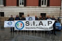 Poliziotti di Bitonto e della Bat in protesta contro la legge di Bilancio del Governo