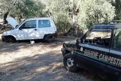 Auto rubata e cannibalizzata ritrovata tra Bitonto e Terlizzi