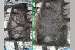 Da un cantiere privato a Bitonto spunta una tomba di oltre 2mila anni fa