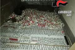 Otto quintali di sigarette di contrabbando nel doppiofondo di un tir: in manette 3 bitontini