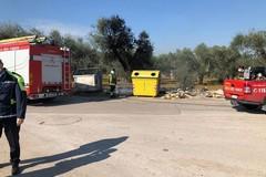 Incendi a raffica nelle campagne di Bitonto: ancora rifiuti in fiamme