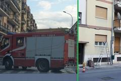 Palo della luce pericolante in via Larovere: i pompieri intervengono e lo rimuovono