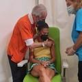 Bianca Guaccero vaccinata a Bitonto
