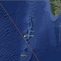 Frammenti di razzo cinese precipitati nell'Oceano Indiano