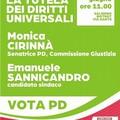 Monica Cirinna' a Bitonto per parlare di diritti universali