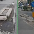 FI Bitonto: «Spartitraffico pericoloso in via Ricapito». Ma era stato già riparato