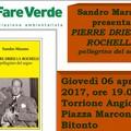 Domani al Torrione 'Pierre Drieu La Rochelle, pellegrino del sogno'