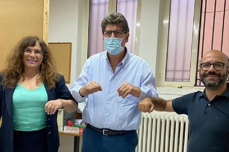 Brandi con Lacarra e Cecilia Petta