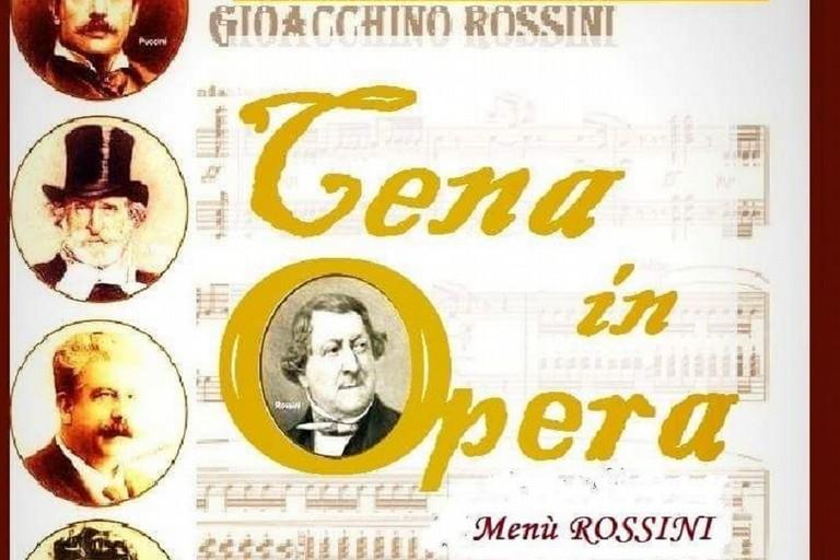 Cena in Opera tributo a Rossini aprile