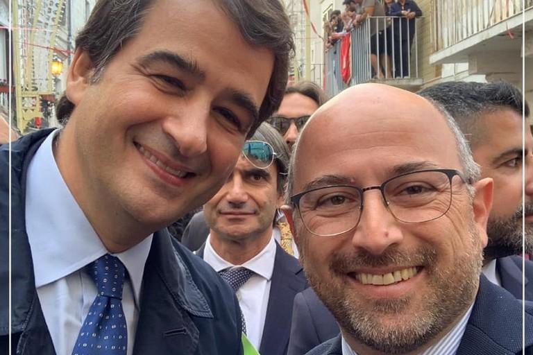 Domenico Damascelli con Raffaele Fitto