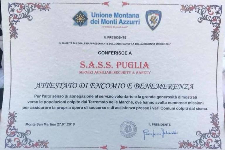 Encomio per i Sass Puglia