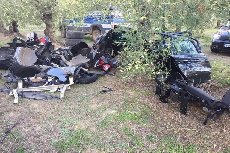 Alcune auto rubate nelle campagne di Bitonto
